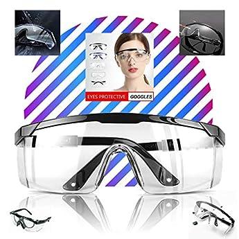 Foto di LogicaShop 1 Occhiali Protettivi Sanitari Virus Donna Certificati Sopra Protezione Occhi Chimica No Antiappannamento Trasparenti da Laboratorio Chimico Lavoro Uomo Compatibile Antinfortunistica (1)