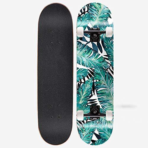 32 Zoll Professionelle Skateboard Ahorn Komplette Skateboard Kinder Skateboard/Junge/Mädchen/Teenager/Erwachsene Fähigkeit Anfänger,No Flash