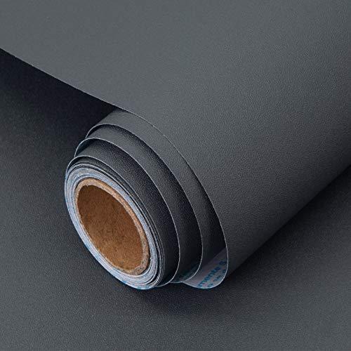 Papel Adhesivo para Mueble Gris Oscuro 40X300 cm PVC Material Adhesivo para Muebles Armario Decorativo Encimeras Mostradores de Bar Pegatinas de Renovación de Muebles