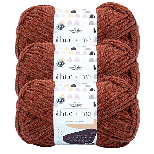 (3 Pack) Lion Brand Yarn 617-134 Hue & Me Yarn, Spicy