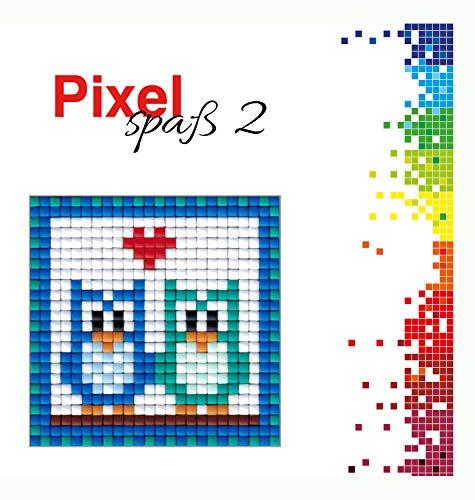 Pracht Creatives Hobby P90027 00505 Pixel Spaß Bastelset Eulen Kleines Pixelbild Auf Grundplatte Zum Gestalten Für Kinder Jungen Und Mädchen Als