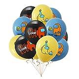 XINGYAO Globo 5 unids/Set Entre Nosotros Número Azul Globo Set Space Dibujos Animados Figura Foil Latex Balloon Feliz Cumpleaños Decoraciones decoración (Color : 12pcs Mix B 1)