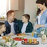 Teelichthalter, Teelichthalter mit 3 Teelichter, Dekoschale mit Kerzen, Tischdekoration, Weihnachtsdekoration, Deko für Geburtstag, Party, Hochzeit, 26cm x 10cm x 8cm - 3
