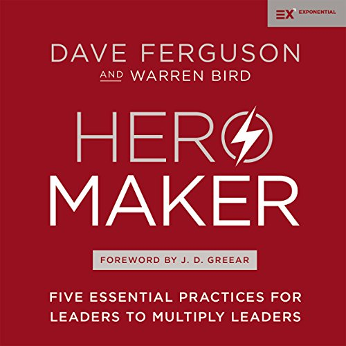 Hero Maker     Five Essential Practices for Leaders to Multiply Leaders              Autor:                                                                                                                                 Dave Ferguson,                                                                                        Warren Bird,                                                                                        J.D Greear - foreword                               Sprecher:                                                                                                                                 Mark Smeby,                                                                                        Gabe Wicks,                                                                                        John Behrens                      Spieldauer: 6 Std. und 17 Min.     1 Bewertung     Gesamt 5,0