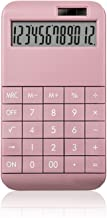 $26 » Solar Calculator Stylish Cute Portable Calculator with 12 Digits Display, Home Office Student Accounting Dedicated (Color ...