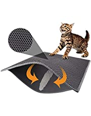 Pieviev Cat Litter Mat Trapper - 76 x 61 cm Honeycomb Double Layer Tapis Litiere Chat -Traps Messes, Easy Clean and Durable, Non Toxic Trapper Rug Suitable for Litter Tray