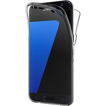 AICEK Funda Samsung Galaxy S7, Transparente Silicona 360°Full Body ...