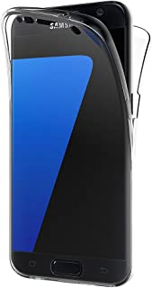 AICEK Funda Samsung Galaxy S7 Edge, Transparente Silicona 360°Full Body Fundas para Samsung S7 Edge Carcasa Silicona Funda Case (5,5 Pulgadas)