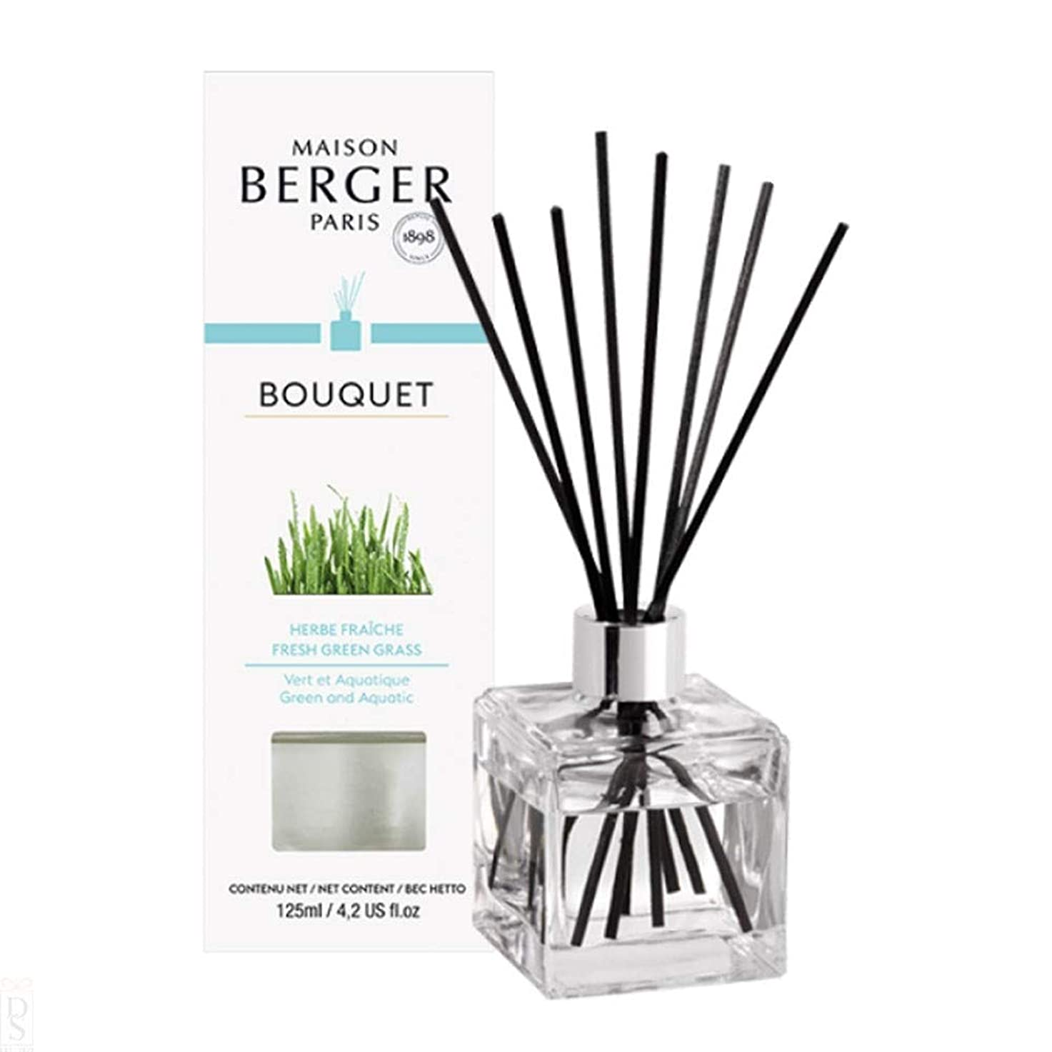 たぶん複製パノラマランプベルジェ Cube Scented Bouquet - Fresh Green Grass 125ml/4.2oz並行輸入品
