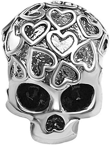 JMQJewelry Skull Halloween Heart Love Charm Bead Charms for Bracelets Women Girls Men Jewelry product image