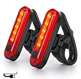 Nestling Luz Trasera para Bicicleta,Luz de Destello de Seguridad USB Recargable Ultra Brillante LED Rojo Fácil de Instalar, Impermeable,Faro Trasero Bici para Máxima Seguridad de Ciclismo (2 pcs)