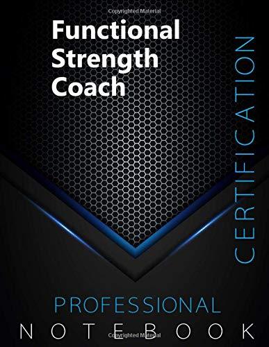 "Functional Strength Coach Certification Exam Preparation Notebook, examination study writing notebook, Office writing notebook, 140 pages, 8.5"" x 11"", Glossy cover, Black Hex"