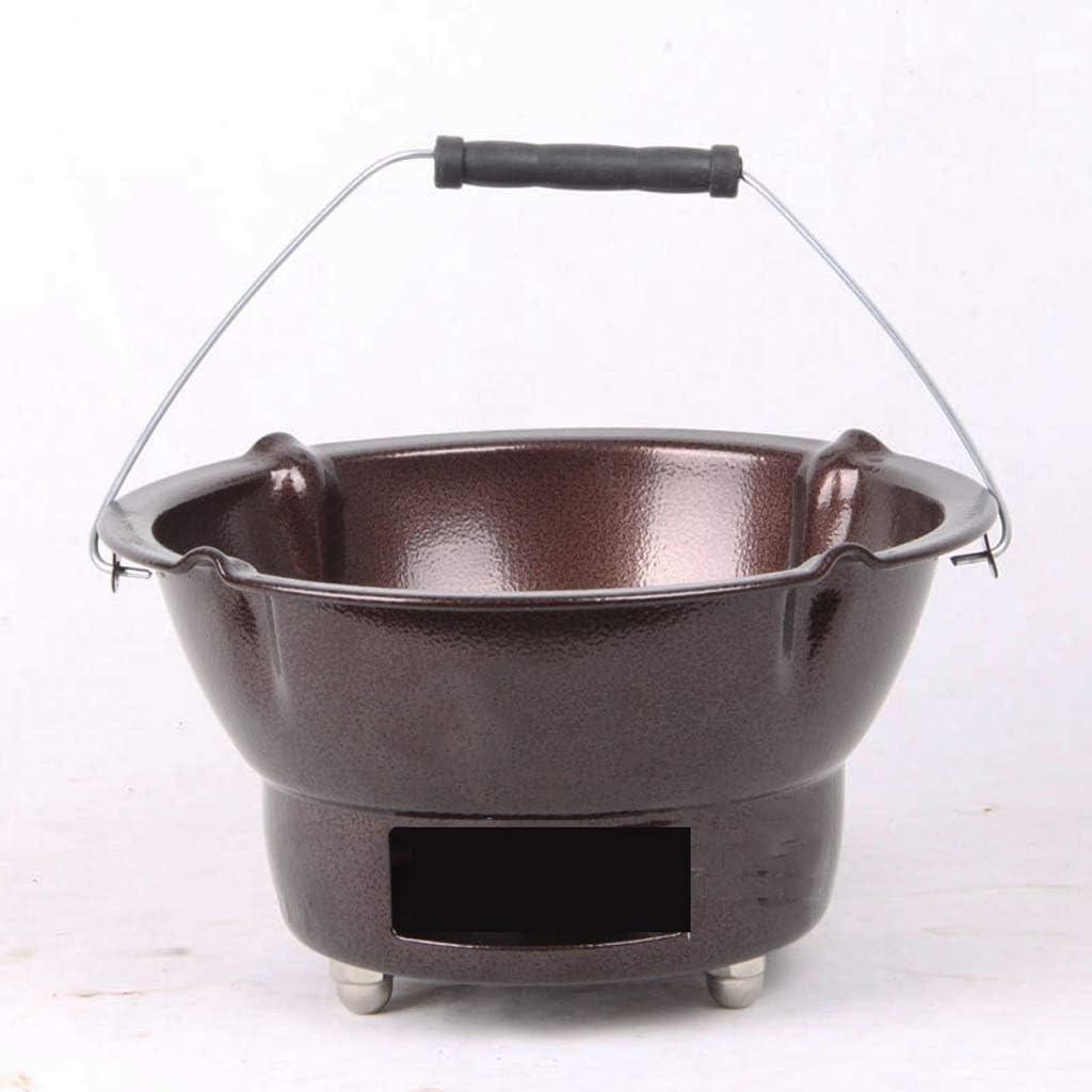 Barbecue Grill Barbecue Grill-Ménage Four à Charbon de Bois poêle à Charbon de Bois Petite Table Petit poêle Grill Soupe Pot médecine @ (Couleur: Brun) Gold
