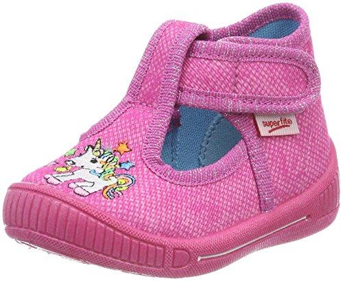 Superfit Mädchen Bully hohe Hausschuhe, Pink (Pink Kombi), 24 EU