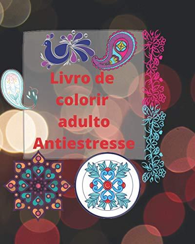 Livro de colorir adulto Antiestresse: Modelos com padrões de estilo henna, cashmere e mandala | designs e padrões de cores para adultos para aliviar o estresse e relaxar | Ideia para presente