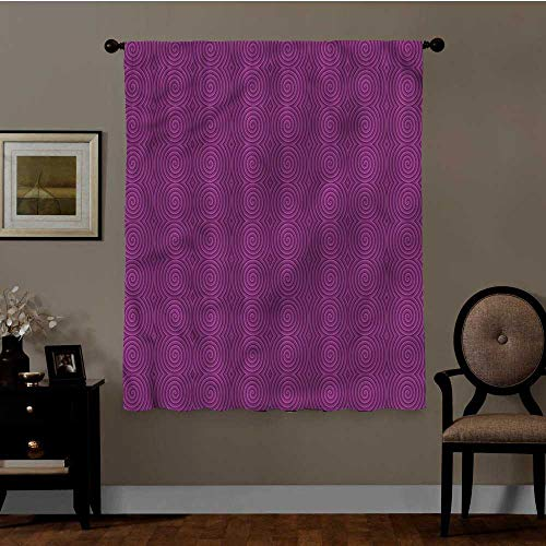 YOYI Magenta, Room Divider Curtain Screen Rotary Spinning Art Best Home Decoration, Set of 2 Panels (36 x 63 Inch)