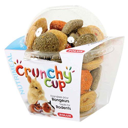 Friandises pour rongeurs Crunchy Cup Nature, Carotte & Luzerne