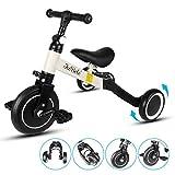 DesignSter Bicicletas Tres Ruedas Niño, 3 En 1 Bicicleta Equilibrio Bebe con Altura Ajustable, Triciclos Evolutivos para Niño Y Niña De 1 A 6 Años