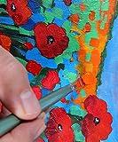 Mont Marte Acrylfarben-Set 24Farben 36ml, perfekt für Leinwand, Holz, Stoff, Leder, Karton, Papier, MDF und Basteln - 7