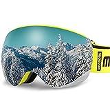 AKASO OTG Ski Goggles, Snowboard Goggles, Mag-Pro Magnetic Interchangeable...