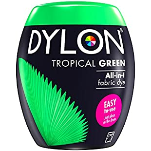 DYLON Machine Dye Pod, Tropical Green, easy-to-use fabric colour for laundry, 350g:Masterpola