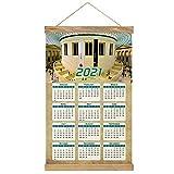 Reino Unido Inglaterra El Museo Británico de Londres Imprimir Póster Calendario de Pared 2021 12 Meses Pintura decorativa Cuadros Colgantes Lienzo Madera 20.4 'x 13.1' GL-UK-6093