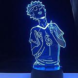 Lámpara de noche 3D con diseño de anime en 3D, LED, decoración del hogar, dibujos animados, regalo de Navidad FDJHG