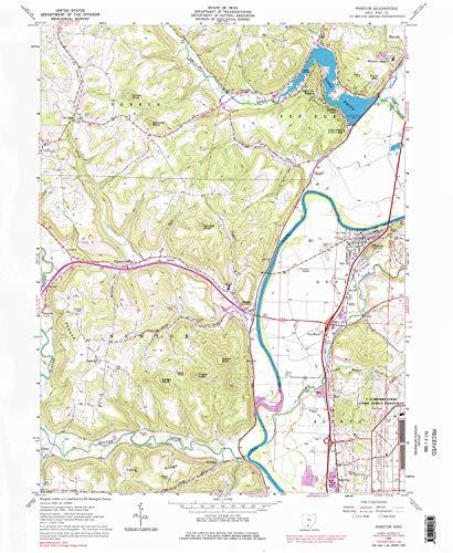 YellowMaps Piketon OH topo map, 1:24000 Scale, 7.5 X 7.5 Minute, Historical, 1961, Updated 1984, 26.8 x 22.1 in - Polypropylene