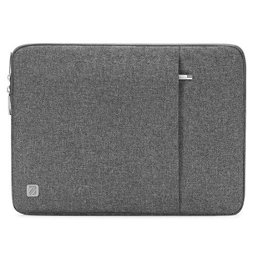 "NIDOO 13.3 Zoll Wasserdicht Laptop Sleeve Case Laptophülle Notebook Hülle Tasche für 13\"" Alt MacBook Air 2014-2017 / 13.5\"" Microsoft Surface Book 2 3 / 14\"" ThinkPad X1 Carbon / X1 Yoga 2020, Grau"
