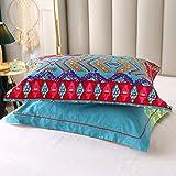 Qucover 2 Stück Kopfkissenbezüge 48 x 74 cm im Böhmischen Stil 100% Baumwolle