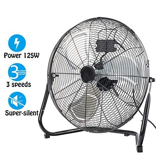 Dawoo Brasseur d'air   20' (50 cm) De Diamètre Ventilateur Puissant 125W Puissance 3 Vitesses Ventilateur De Sol(Black