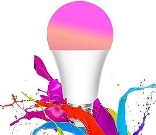 WANFEI Bombilla WiFi E27, 10W LED Bombilla Inteligente 950lm 16 Millones Colores Lámpara WiFi Bombilla Regulable, APP Control de Voz WiFi, Funciona con Alexa, Asistente de Google, HomeKit, Tmall Genie
