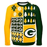 NFL Green Bay Packers BUSY BLOCK Ugly Sweater, Medium