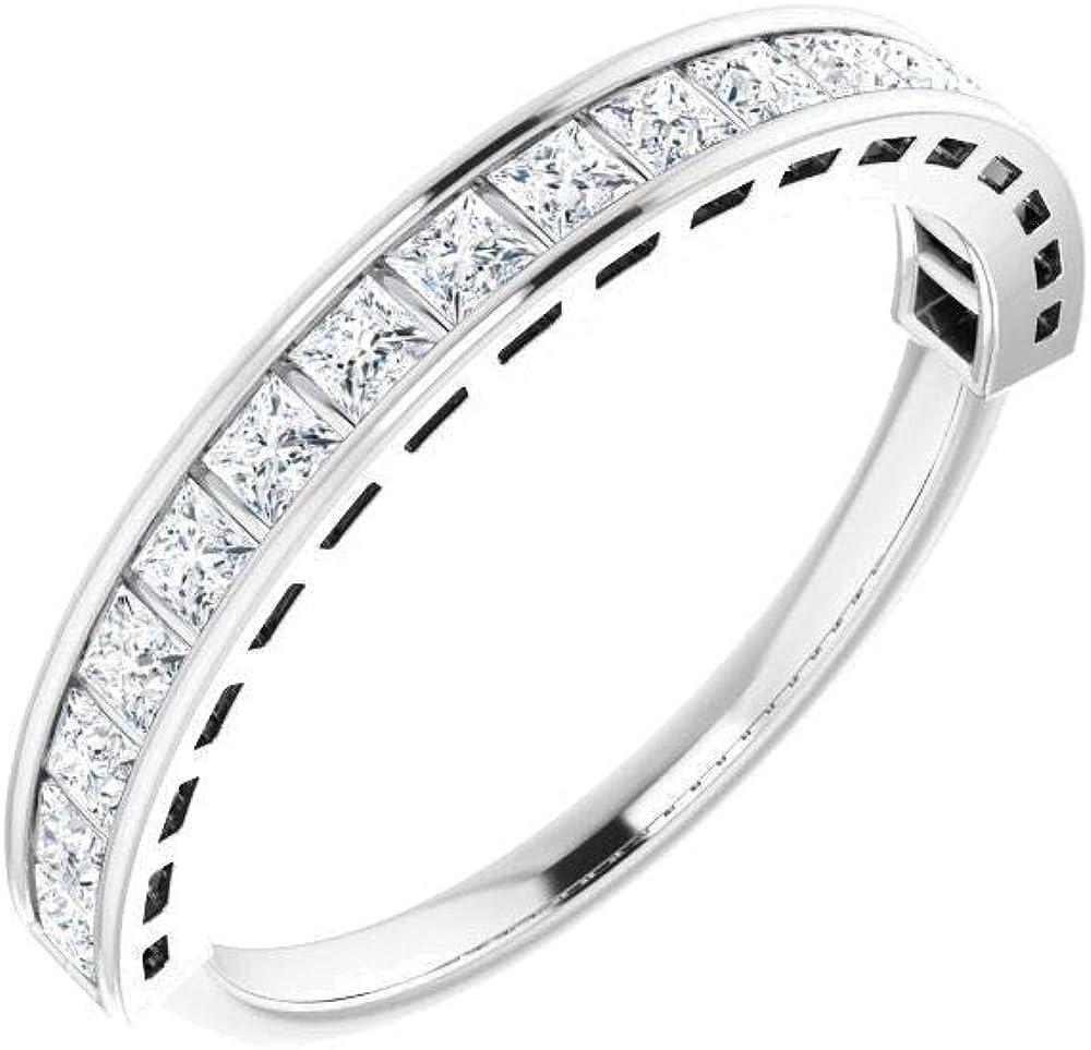 Bonyak Popular brand in the Ranking TOP5 world Jewelry Platinum 1 2 CTW Diamond Band Size Anniversary