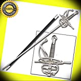Fencing Medieval Square Guard Renaissance Rapier Swept Hilt Sword perfect for cosplay outdoor camping