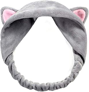 Hair band Women Elastic Hairband Band Bow-Knot Cute Head Lovely Hair Accessories Twisted Lady Makeup Elastic Headwear MJZCUICAN (Color : Gray, Size : One Size)