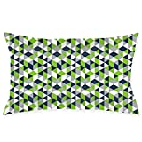 ZJBLHEQ Pillowcase Geometric Seahawk Luxury Pillow Covers for Hair and Skin Hypoallergenic Anti-Wrinkle Breathable Cool Ultra Soft with Hidden Zipper 20 X 30 Inches