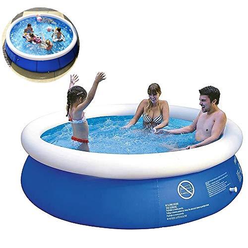 LLFFDC Runder Aufblasbarer Pool Planschbecken Im Freien Großer Kindergartenpool Mehrere Größen,180cm*73cm