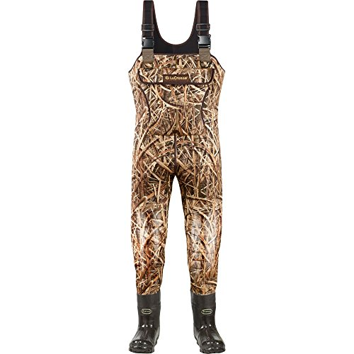 Lacrosse Waders Super Brush Tuff Mossy Oak Shadow Grass Blades 1200G (700150) | Waterproof | Insulated Modern Comfortable Hunting Combat Boot Best for Mud, Snow (Medium = 7)