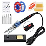 Soldering Iron Kit, 80W 110V LCD Digital Soldering Welding Iron Kit 356-896℉( 180-480℃), Portable Adjustable...