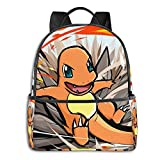 Charmander Attack Student School Bag Laptop Backpack Travel Cycling Outdoor
