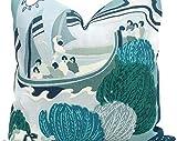 Turquesa Pearl River Funda de almohada decorativa Eurosham Lumbar Almohada chinoiserie mar