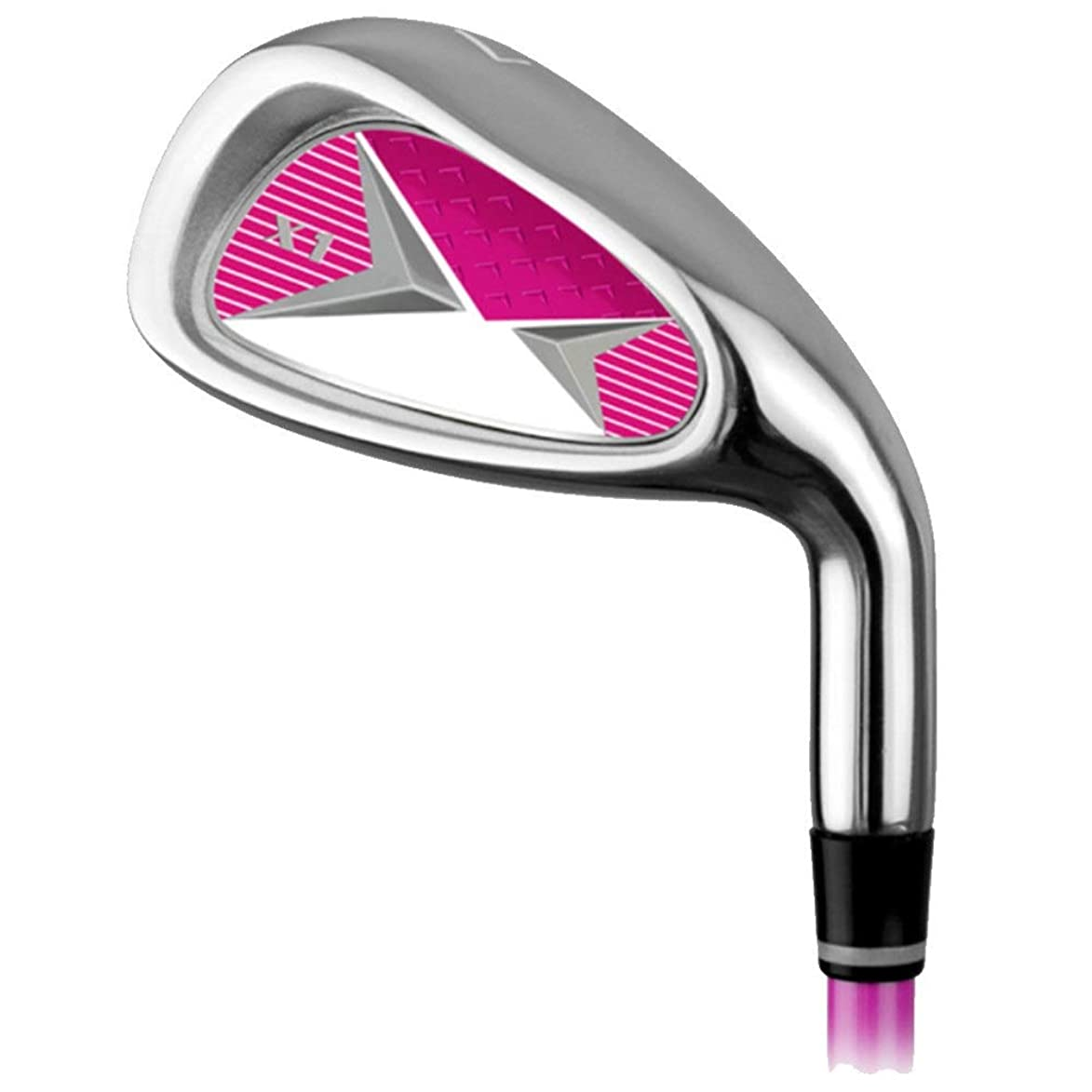 許さないペイント耐えられないゴルフ練習クラブゴルフカーボンアイアン7アイアン男性と女性子供初心者練習ポール3?12歳オレンジレッドブルー ゴルフアイアンセットワークスパター (色 : 9-12Age-pink, サイズ : Steel body)