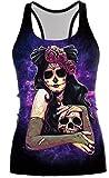 Camiseta chaleco Belsen de Halloween para mujer Ghost skull Large