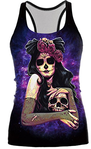 Camiseta chaleco Belsen de Halloween para mujer