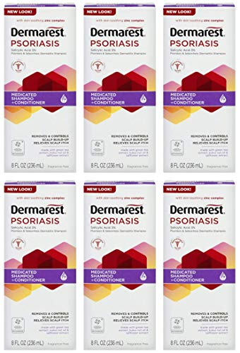 Dermarest Psoriasis Shampoo and Conditioner, 8 fl. oz., Pack of 6