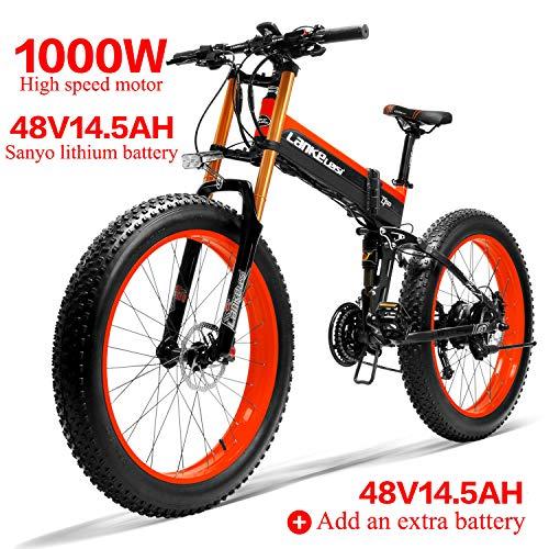 LANKELEISI 750PLUS 48V14.5AH 1000W Motor Bicicleta eléctrica con Toda