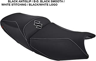 Suzuki Bandit GSF 650/1200/1250 '05-'09 seat Cover Black-White Stitching