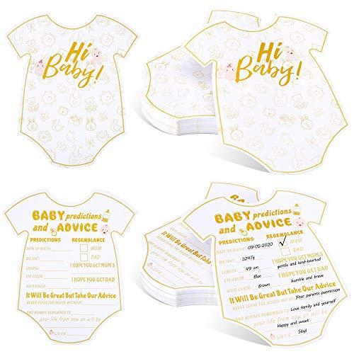 60 Stück Baby Geschlecht Neutrale Vorhersagen Karten Hinweiskarten Ratgeber für Neue Eltern Nachrichten für Geschlechter Enthüllen Baby Dusche Spiel Party Bevorzugungen