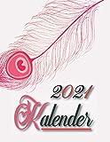 2021 Kalender: Jahreskalender 2021 mit Feiertagen + Notizen - Wochenplaner , Terminplaner und Kalender 2021- terminplaner 2021- organizer 2021, im ... - Flamingo niedlichen Entwurf (Deutsch).